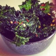 Kale chips https://naturalhealthconsciousliving.com/2014/11/21/kale-chips-vegan/