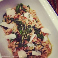 Pearl barley risotto with kale thyme & goats cheese https://naturalhealthconsciousliving.com/2015/01/11/pearl-barley-risotto-with-kale-thyme-goats-cheese/