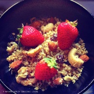 Quinoa granola https://naturalhealthconsciousliving.com/2015/02/20/quinoa-coconut-granola-gf/