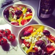 Greek salad https://naturalhealthconsciousliving.com/2015/02/18/greek-salad/