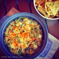 Baked spinach & artichoke dip https://naturalhealthconsciousliving.com/2015/03/04/baked-spinach-artichoke-dip-vegan-gf/