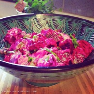 Roasted beets with creamy walnut dressing https://naturalhealthconsciousliving.com/2015/03/14/roasted-beets-with-creamy-walnut-dressing/
