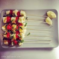 Haloumi kebabs with honey & mint https://naturalhealthconsciousliving.com/2015/04/19/haloumi-kebabs-with-honey-mint-marinade-gf-paleo/