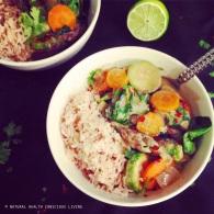 Thai green veggie curry https://naturalhealthconsciousliving.com/2015/05/05/thai-green-veggie-curry-vegan-gluten-free/