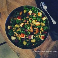 Kale & haloumi winter salad https://naturalhealthconsciousliving.com/2016/05/16/kale-haloumi-winter-salad-gf-vegetarian/