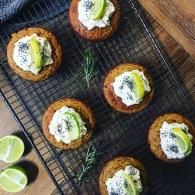 Lime + coconut cupcakes https://naturalhealthconsciousliving.com/2017/06/12/lime-coconut-cupcakes-with-goats-curd-honey-icing/