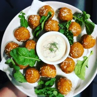 Spicy sweet potato balls https://naturalhealthconsciousliving.com/2018/03/09/spicy-sweet-potato-balls-gf/