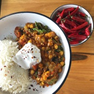 Eggplant + chickpea curry https://naturalhealthconsciousliving.com/2020/02/17/eggplant-chickpea-curry/