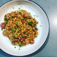 Chorizo + red wine risotto https://naturalhealthconsciousliving.com/2020/09/23/chorizo-red-wine-risotto/